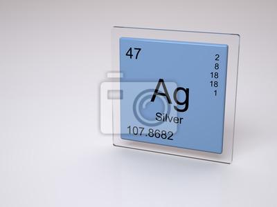 Silver smbolo ag elemento qumico de la tabla peridica cuadro silver smbolo ag elemento qumico de la tabla peridica urtaz Choice Image