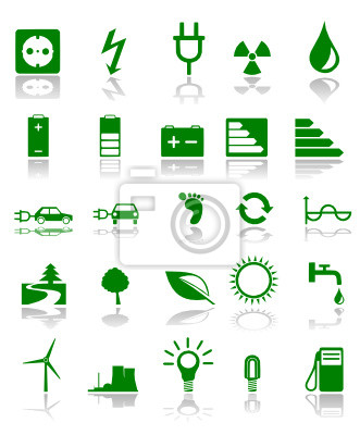 Símbolos verdes de la energía