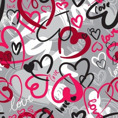 Cuadro Sin patrón lindo de San Valentín con corazones