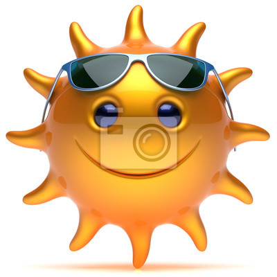 Smile Alegre Cara Smiley Gafas Animados Dibujos Estrella De Sol IWEHYDe29
