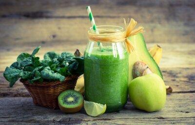 Cuadro Smoothie verde fresco y sano