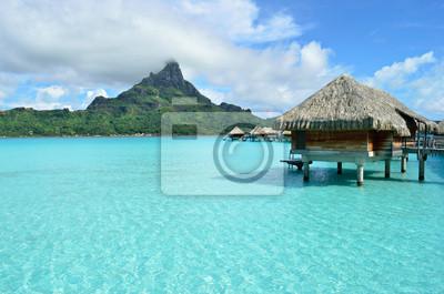 Sobre el agua de lujo resort de vacaciones en Bora Bora