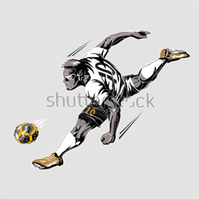Cuadro Soccer player power kick