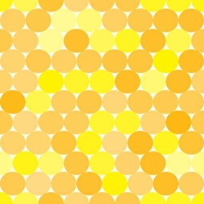 Cuadro Soft vector sin fisuras patrón de color amarillo y naranja con círculos. Fondo geométrico abstracto monocromático.