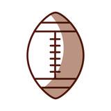 Sombra balón de fútbol americano vector de dibujos animados de diseño  gráfico 92ede5ae34b