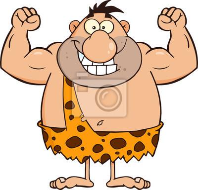 Sonreír Doblar Personaje De Dibujos Animados Hombre De Las