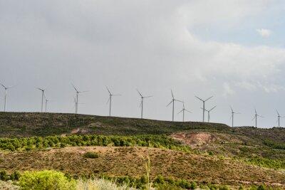 spanish landscape view of european countryside rural area in castilla y leon burgos spain.