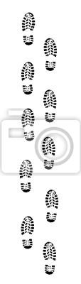 Spur Fußabdruck