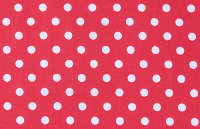 Cuadro Stoff  Rot Weiß Textur Punktmuster