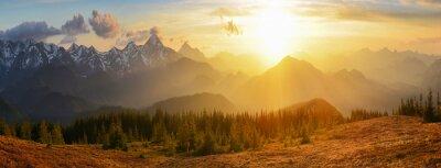 Cuadro Sunset montañas
