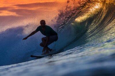 Cuadro Surfista en la onda increíble