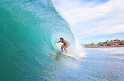 Cuadro Surfista en un tubo