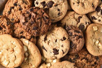 Cuadro Surtido de cookies Closeup