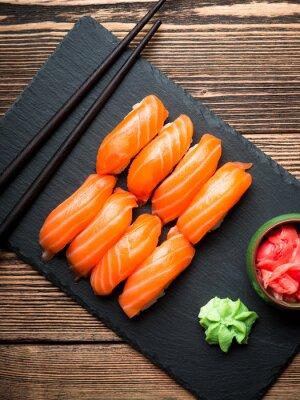 Cuadro Sushi con salmón
