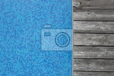 Swimmning Piscina Con Terraza De Madera Pinturas Para La
