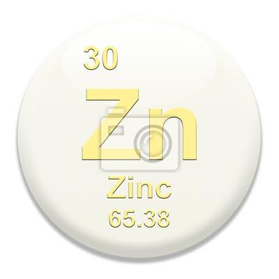 Tabla peridica zn zinc pinturas para la pared cuadros zinc cuadro tabla peridica zn zinc urtaz Images