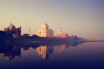 Cuadro Taj Mahal India Seven Wonders Conceptos