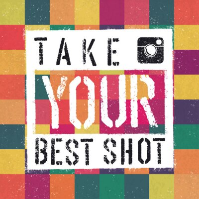 Cuadro Take You posters mejor tiro. Con colorido textura abstracta backg