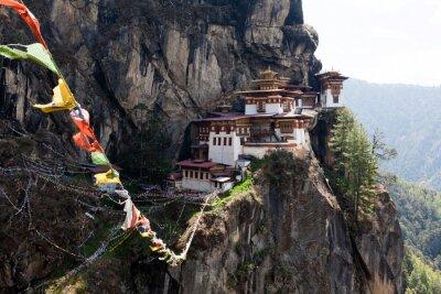 Cuadro Taktshang Goemba, el monasterio de Nido del Tigre en Bután