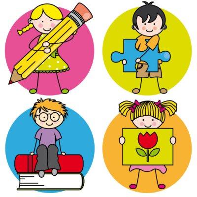 Cuadro Tarjeta Aprender a pintar, ESCRIBIR, leer, Jugar