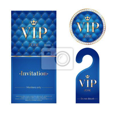 Tarjeta De Invitación Vip Advirtiendo Percha Y Placa