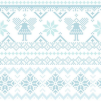 Cuadro Tarjeta de Navidad escandinava - para la invitación, papel pintado