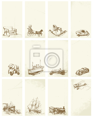 tarjetas de visita - juguetes de época