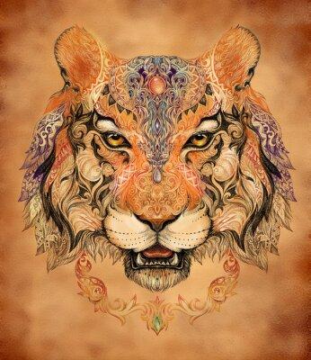 Cuadro Tatuaje, jefe de gráficos de un tigre