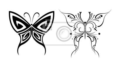 Tatuajes De Mariposas En Blanco Y Negro Pinturas Para La Pared