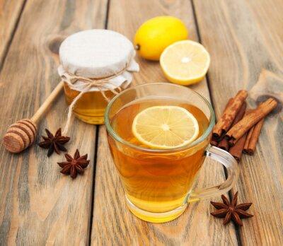 Cuadro Taza de té con miel