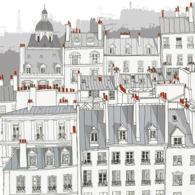 Cuadro Techos de París