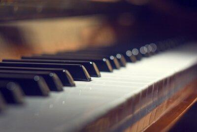 Cuadro Teclado de piano de fondo con enfoque selectivo
