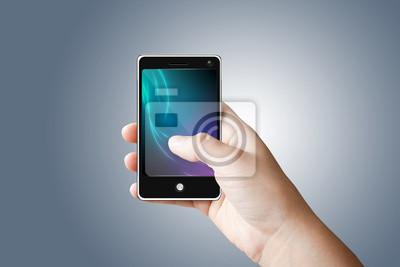 Teléfono móvil con pantalla táctil