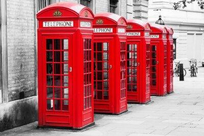 Cuadro Telefonzellen en Londres im Color-Key Verfahren
