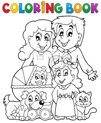 Cuadro Tema De La Familia Libro Para Colorear