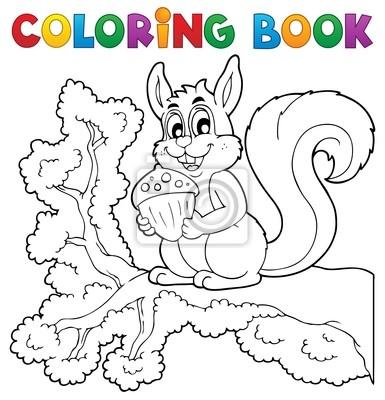 Tema de libro para colorear ardilla 1 pinturas para la pared ...