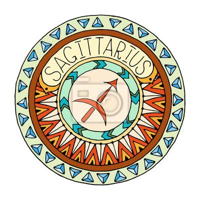 Tema De Los Signos Del Zodiaco Mandala Con Signo Del Zodiaco Pinturas Para La Pared Cuadros Escorpión Virgo Piscis Myloview Es