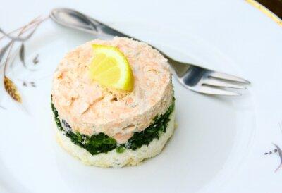 Cuadro terrina de saumon, épinards