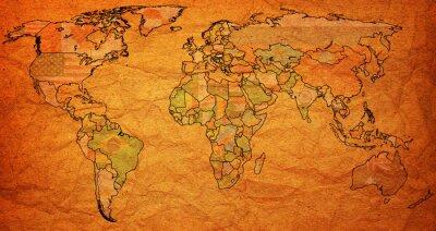 Cuadro territorio húngaro en el mapa mundial