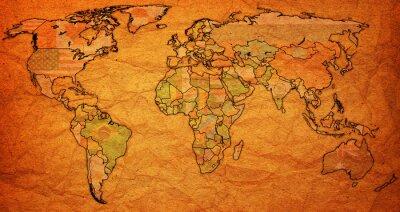 Cuadro Territorio surinam en el mapa del mundo