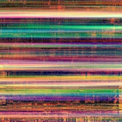 Cuadro Textura envejecida del vintage, fondo colorido del grunge con el espacio para el texto o la imagen. Con diferentes patrones de color: amarillo (beige); marrón; Violeta púrpura); azul; verde