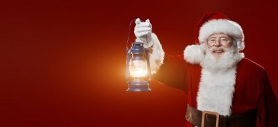 The light of the Christmas holiday