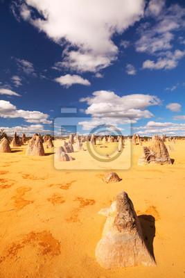 The Pinnacles Desert in Nambung National Park, Western Australia