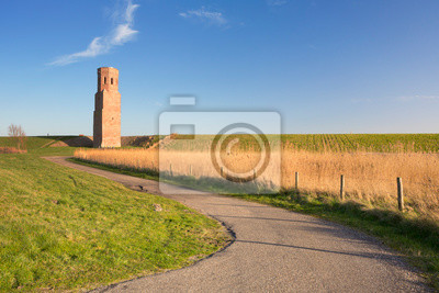 The Plompe Toren church tower in Zeeland, The Netherlands