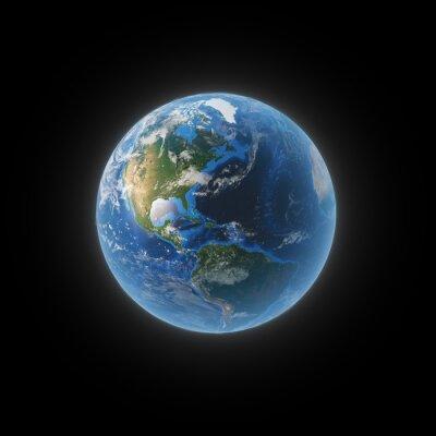 Cuadro Tierra desde el espacio que muestra el norte y Suramérica