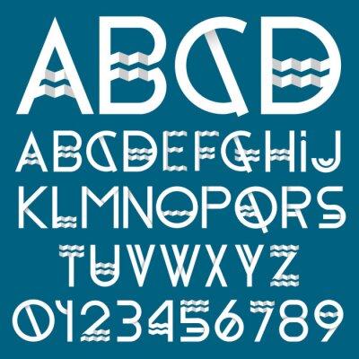 Cuadro Tipo de letra y los números de Papel