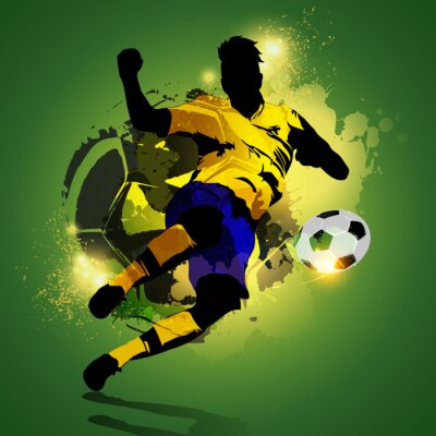 Cuadro Tiroteo Colorful futbolista
