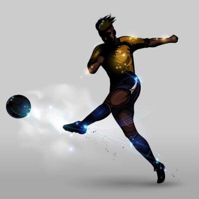 Cuadro Tiroteo poder abstracto de fútbol