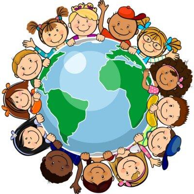 Cuadro Todos unidos en el mundo