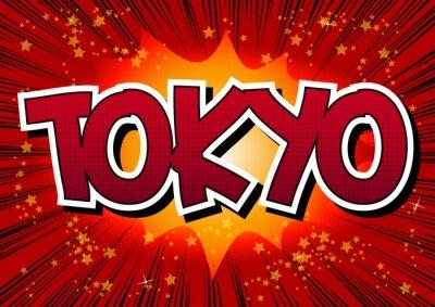 Cuadro Tokio - La palabra estilo de cómic.